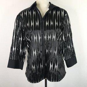 Samuel Dong Jacket Sz Large Black White Textured